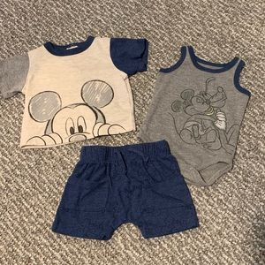 Mickey Disney Outfit - 3 Piece Set